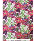 Performance Knit Mesh Fabric -Floral on Soft White
