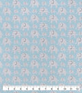 Snuggle Flannel Fabric-Elephant Blue Geo