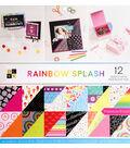 DCWV 36 pk 12\u0027\u0027x12\u0027\u0027 Premium Printed Cardstock Stack-Rainbow Splash