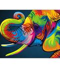 Diamond Embroidery/Printed/Gem Kit 27X38 cm-Rainbow Elephant