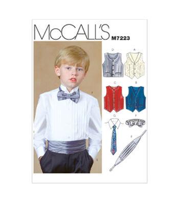 McCall's Boys Vest-M7223