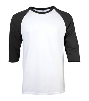 Gildan Medium Adult Raglan Crew Sport T-Shirt