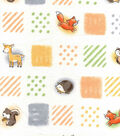 Nursery Cotton Fabric 43\u0022-Woodland Patchwork