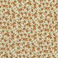 Premium Quilt Cotton Fabric-Tiny Floral Cream Metallic