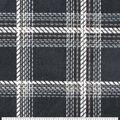 Luxe Fleece Fabric-Black Taupe Plaid