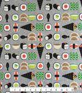 Doodles Cotton Fabric 57\u0022-Sushimi Friends