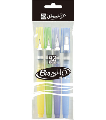 ZIG Watercolor System BrusH2O 4/Pkg-Detailer, Medium, Large & Broad Tips