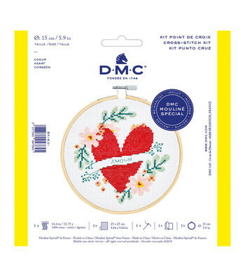 DMC Mouline Special 14-count Cross Stitch Kit-Heart