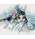 Cat Comfort Counted Cross Stitch KitX8\u0022 14 Count