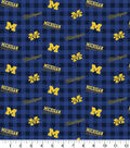 Michigan Wolverines Flannel Fabric-Check