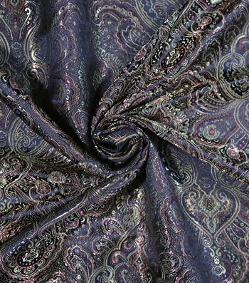 Brocade Fabric 44''-Wild Tapestry on Brown