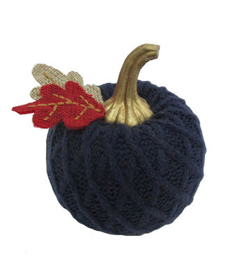 Simply Autumn Extra Small Sweater Knit Pumpkin-Navy