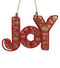 Maker\u0027s Holiday Christmas Woodland Lodge Metal Joy Ornament