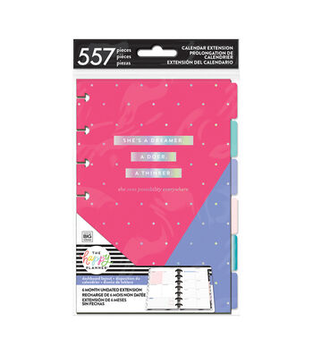 The Happy Planner Mini 6 Month Undated Calendar Extension Pack-Pink