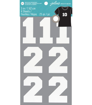 Jolee's Boutique 25 pk Number Iron-on Transfers-White