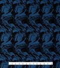 Loungeletics Performance Fabric-Blue & Black Marble