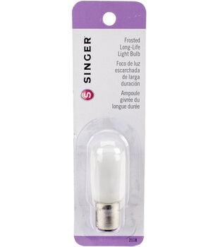Singer Frosted Push In Light Bulb