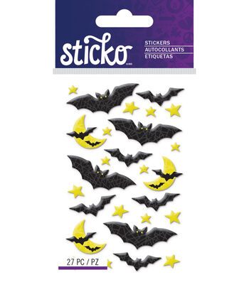 Mini Bats Epoxy Stickers