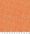 Keepsake Calico Cotton Fabric 44\u0027\u0027-Tangerine Crossed