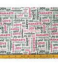 Doodles Juvenile Apparel Fabric -Namaste Interlock