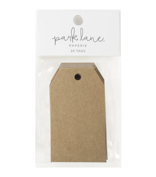 Park Lane Paperie 25 pk Large Basic Tags-Kraft