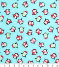 Holiday Cotton Fabric -Winter Penguins
