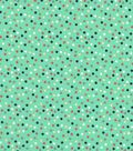 Quilter\u0027s Showcase Cotton Fabric -Scattered Dots on Green
