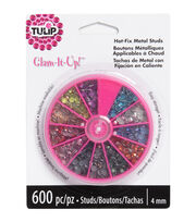 Tulip Glam-It-Up! Iron-On Crystals 12mm 600PK-Assorted Colors, , hi-res