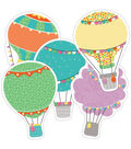 Hot Air Balloon Cutout Assorted Gr Pk- 5, 36/pk, Set Of 3 Packs