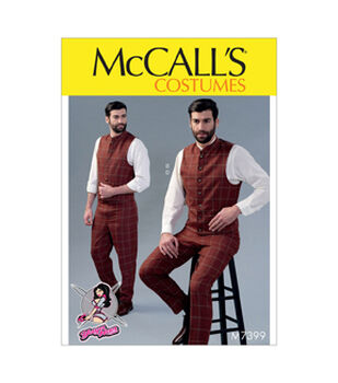 McCalls Pattern M7399 Mens Single/Double-Breasted Vest & Pant-Size 38-44