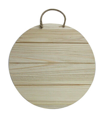Unfinished Wood 6.5X6.5 Circle Wood Cedar Look