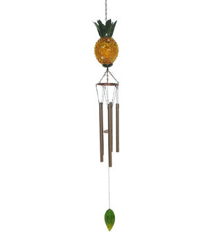 In the Garden Pineapple Wind Chime-Yellow