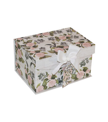 Small Fliptop Storage Box-Floral 2