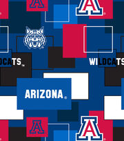 University of Arizona Wildcats Cotton Fabric 43''-Modern Block, , hi-res