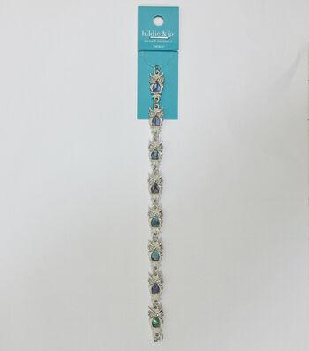 hildie & jo 7'' Owl Shell & Metal Strung Beads