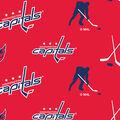 Washington Capitals Fleece Fabric -Tossed