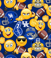 "University of Kentucky Wildcats Cotton Fabric 43""-Emoji, , hi-res"
