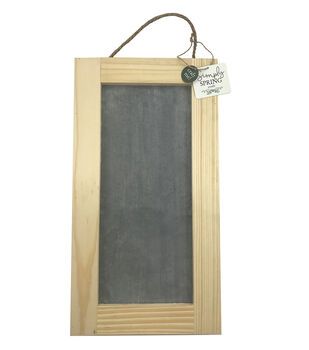 """Simply Spring Craft 8""""x15"""" Cement Wood Frame Sign"""