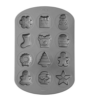 Wilton Non-Stick Cookie Pan-Holiday Icons 12 Cavity