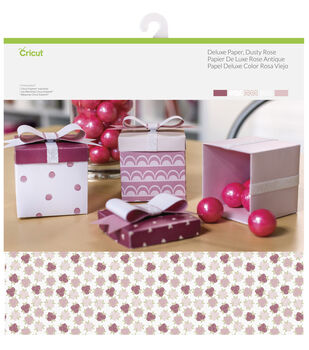 Cricut 10 Pack 12''x12'' Deluxe Papers-Dusty Rose