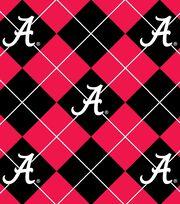 "University of Alabama Crimson Tide Fleece Fabric 58""-Argyle, , hi-res"