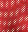 Valentine\u0027s Day Cotton Fabric-White Hearts On Red