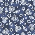 Hanukkah Cotton Fabric-Holiday Icons