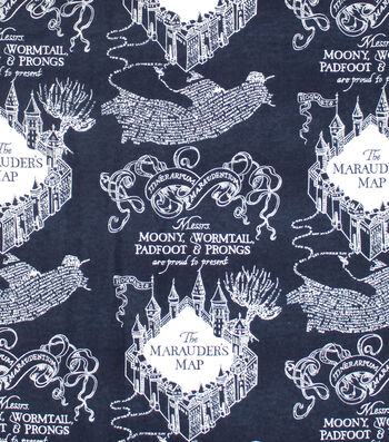 "Harry Potter Flannel Fabric 42""-Marauders Map"