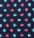 Blizzard Fleece Fabric 59\u0022-Flowers On Navy