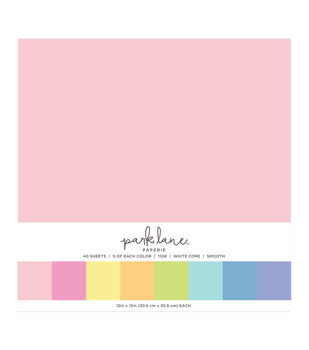Park Lane 40 pk 12''x12'' Value Papers-Neutrals