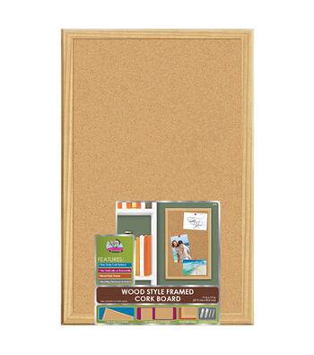 The Board Dudes 11''x17'' Wood Style Framed Cork Board