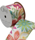 Offray 2.25\u0022 x 9\u0027 Floral Ribbon-Multi