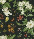 Waverly Upholstery Fabric 54\u0022-Garden Images Black