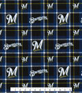 Milwaukee Brewers Flannel Fabric-Plaid